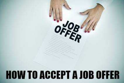 How to Accept a Job Offer Letter/ Email
