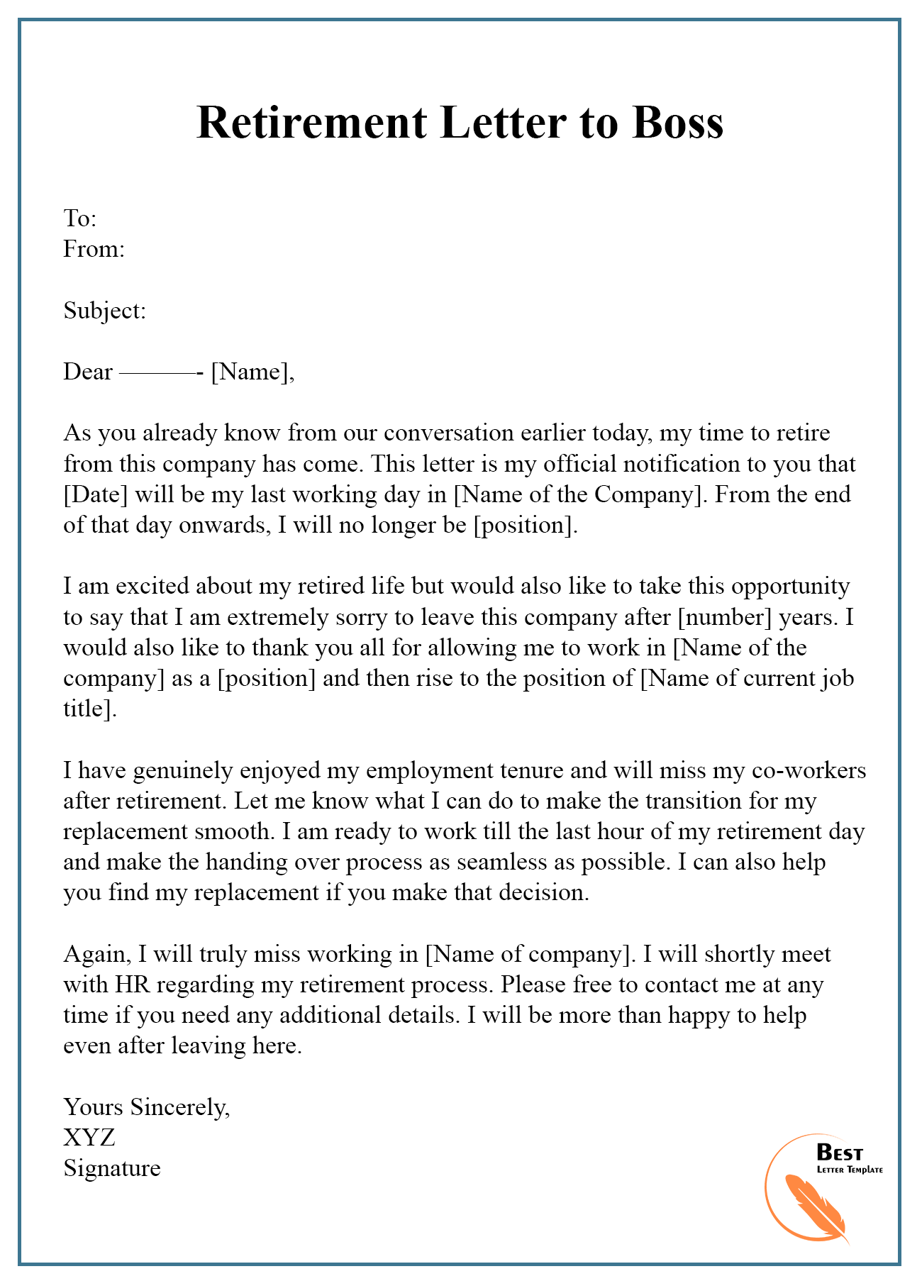 Appreciation Letter To My Boss from bestlettertemplate.com