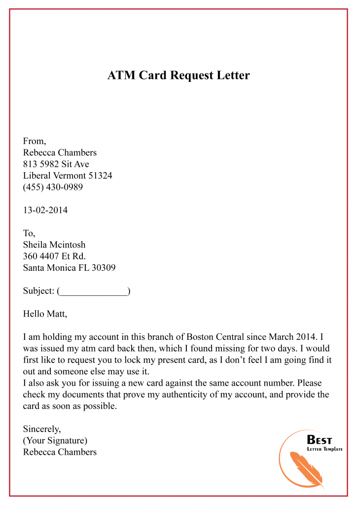 4+ Free Sample Request Letter Template to Bank with Example