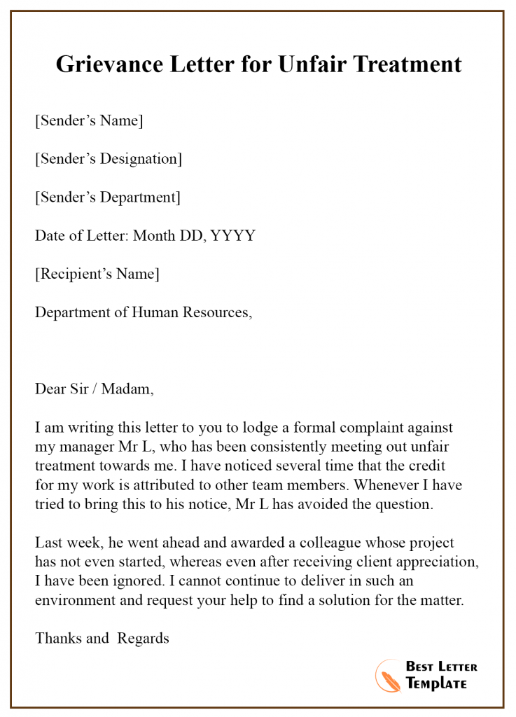 How To Write A Letter Of Complaint Against Your Boss 4 Ways