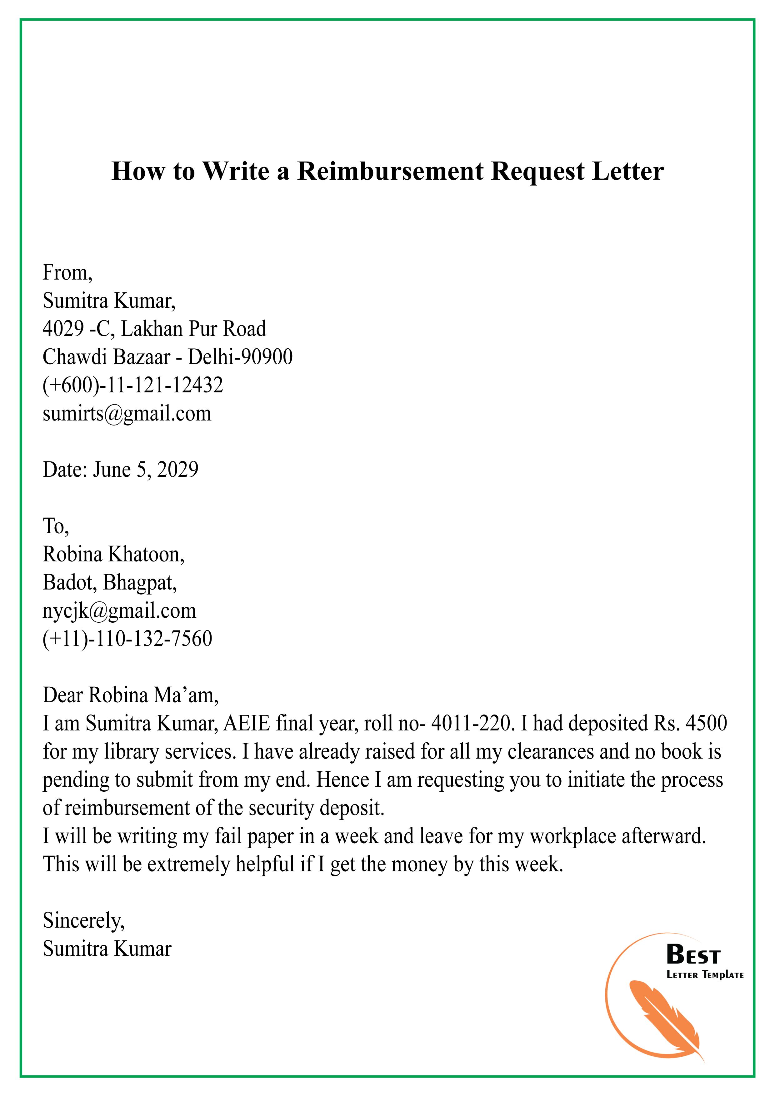 How to Write a Reimbursement Request Letter-01 - Best ...