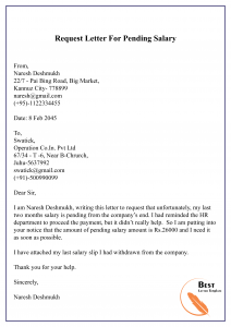 Request-Letter-For-Pending-Salary-01-212x300 Request For Clearance Letter Template on day off, purchase order, food donation, for medical records, sample formal, fundraising donation, for birth certificate, schedule change, salary increase,
