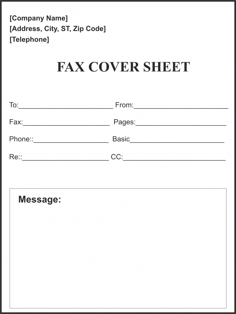This is a photo of Nifty Printable Fax Cover Sheet Free