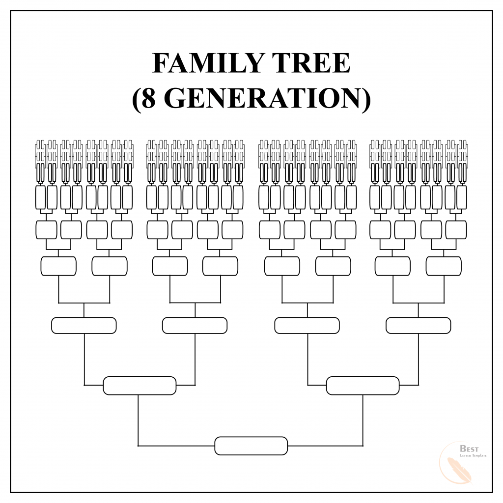 Family Tree Template for 8 Generation