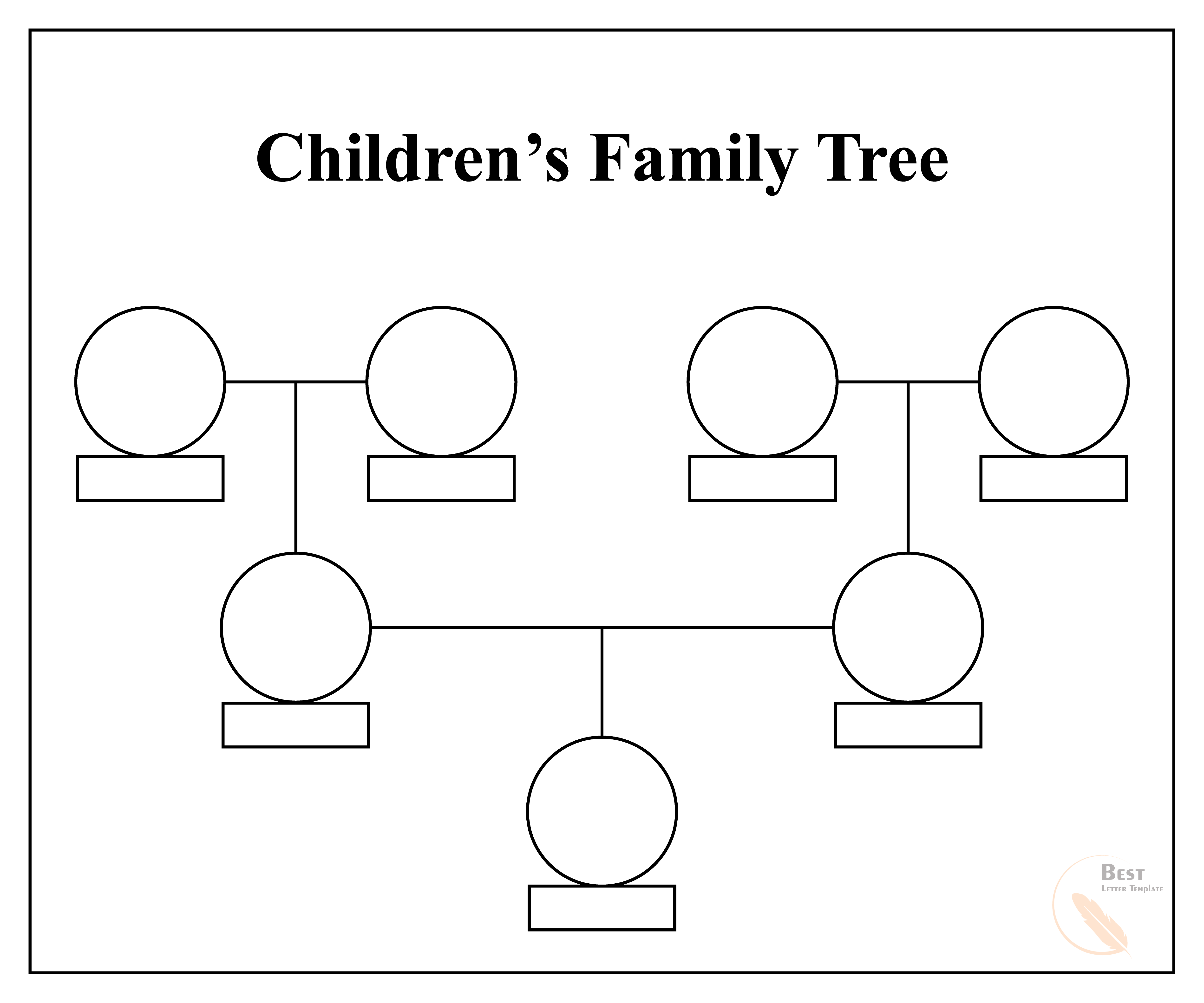 Children's Family Tree Template