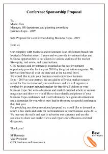 Conference Sponsorship Proposal