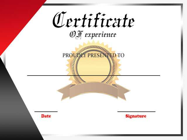 Experience Certificate FOR TEACHER