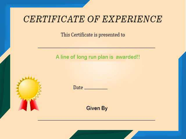 Experience Certificate Template