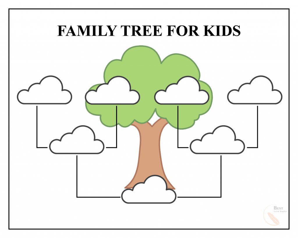 Simple Family Tree Template from bestlettertemplate.com