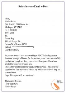 Salary Increase Proposal Sample Letter from bestlettertemplate.com