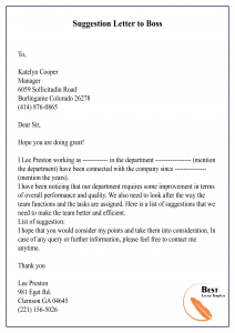 Suggestion-Letter-to-Boss-01-212x300 Sample Apology Letter Template on for hurting patient, how write business, police officer, billing error, for mistake work, for misconduct, late payment,