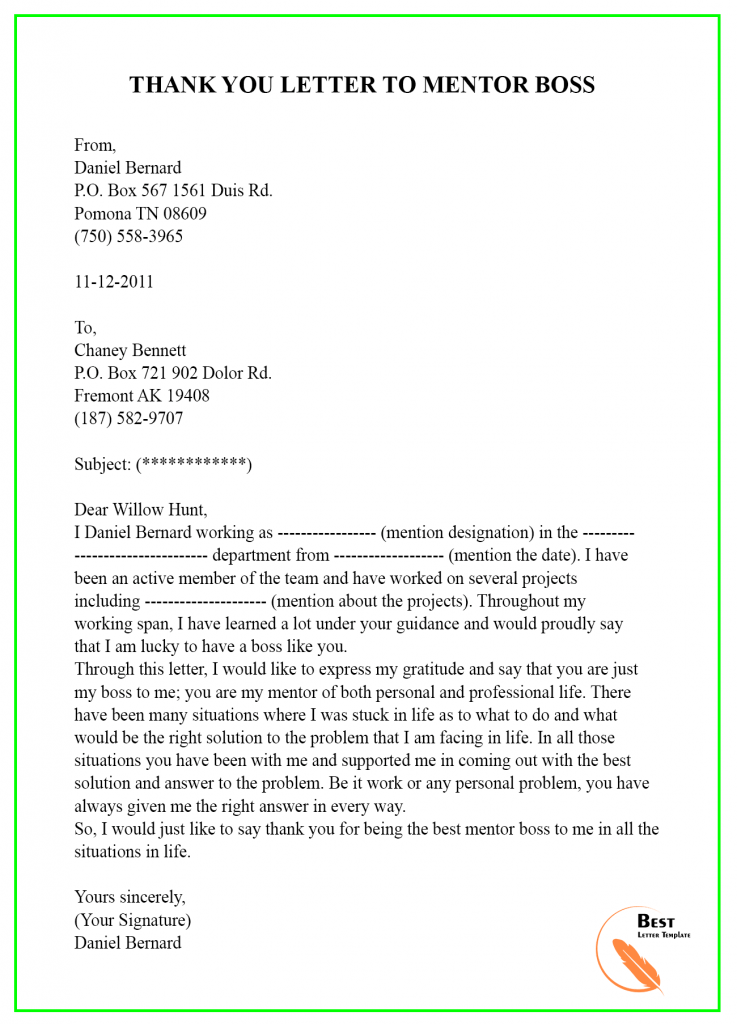 THANK-YOU-LETTER-TO-MENTOR-BOSS-737x1024 Sample Acceptance Letter Template on confirmation job, business proposal, employment offer, for water, retirement plan, employer job, job interview, kindergarten school,