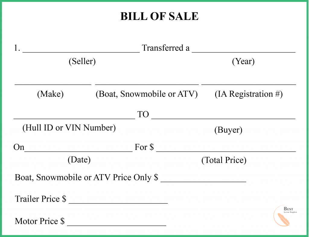 Florida Bill of Sale