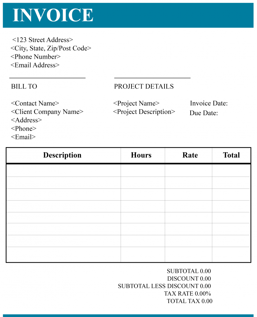 CONSULTANCY INVOICE TEMPLATE