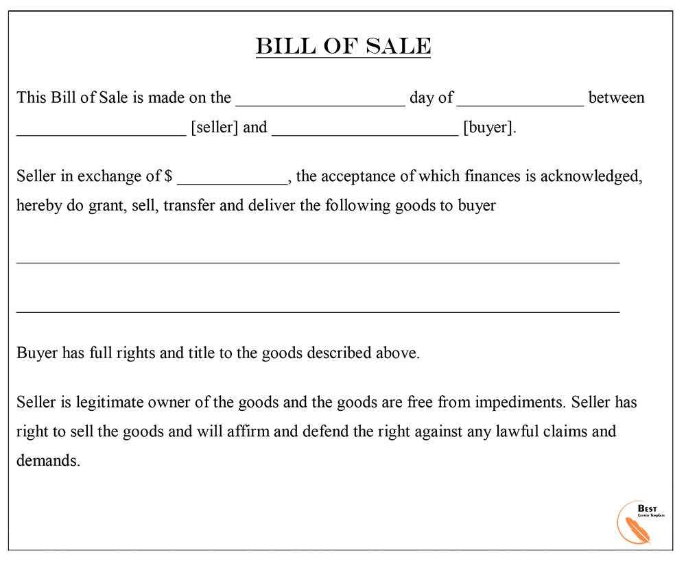 General Rhode Island Bill of Sale