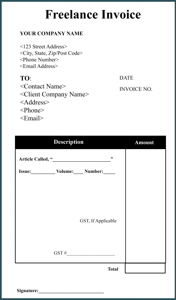 Freelance Invoice Template