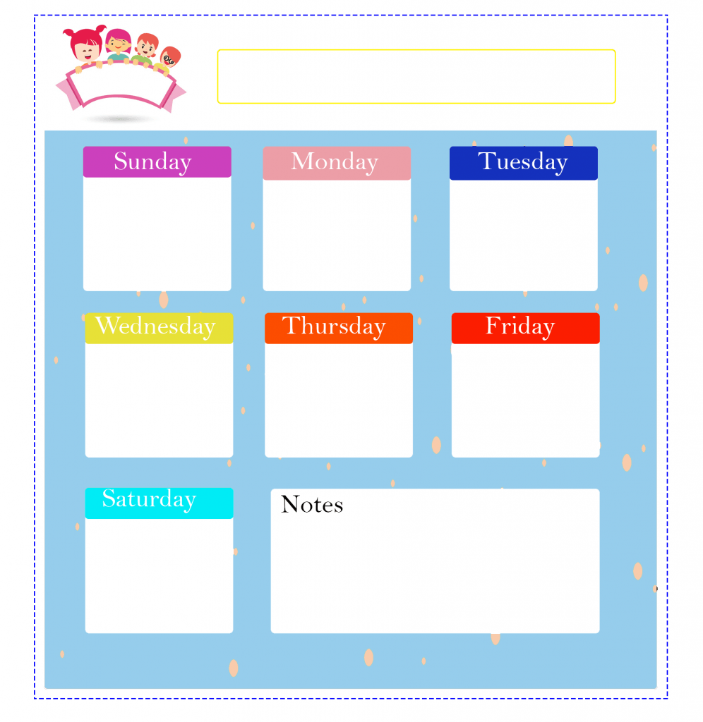 Cute Daily Planner for Kids