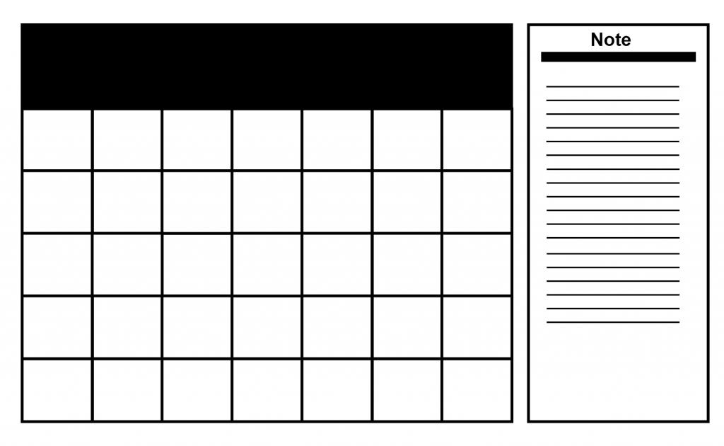 Blank Daily Calendar Planner