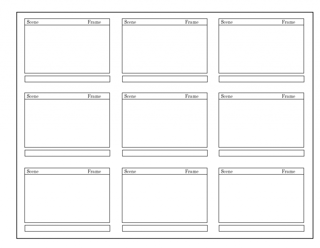graphic about Storyboard Template Printable called Cost-free Storyboard Template [PDF, Phrase, PPT, Google Docs]