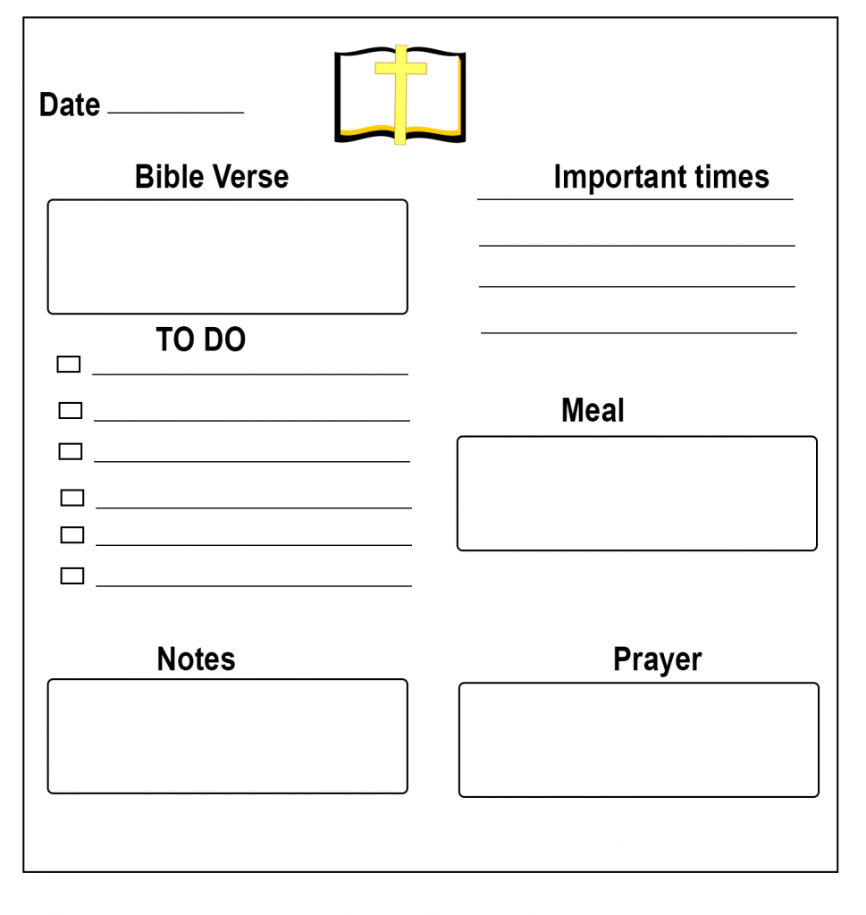Christian Daily Planner