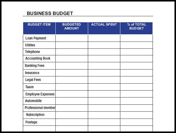 Business Budget Planner