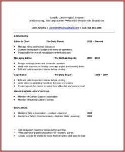 Chronological CV