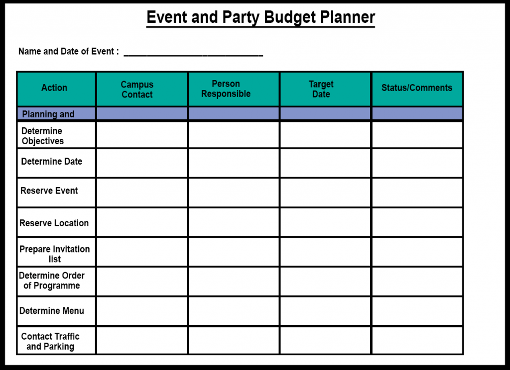 Event and Party Budget Planner