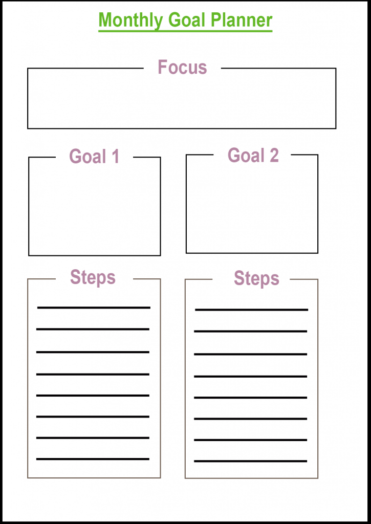 Target [Goal] Monthly Planner