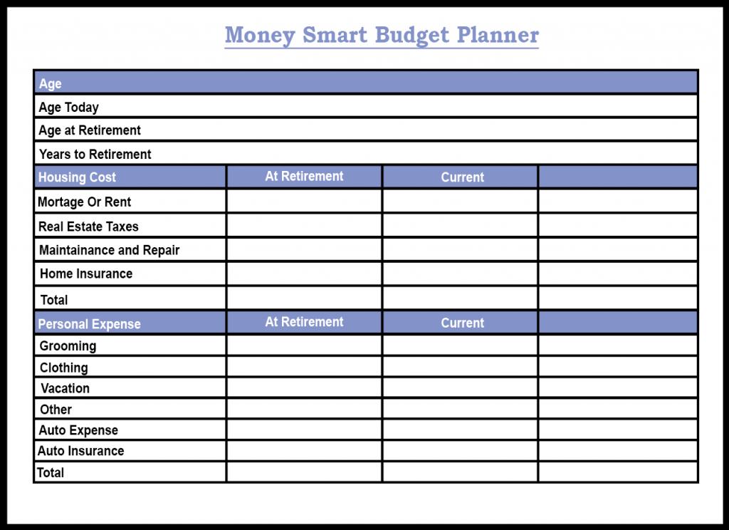 Money Smart Budget Planner