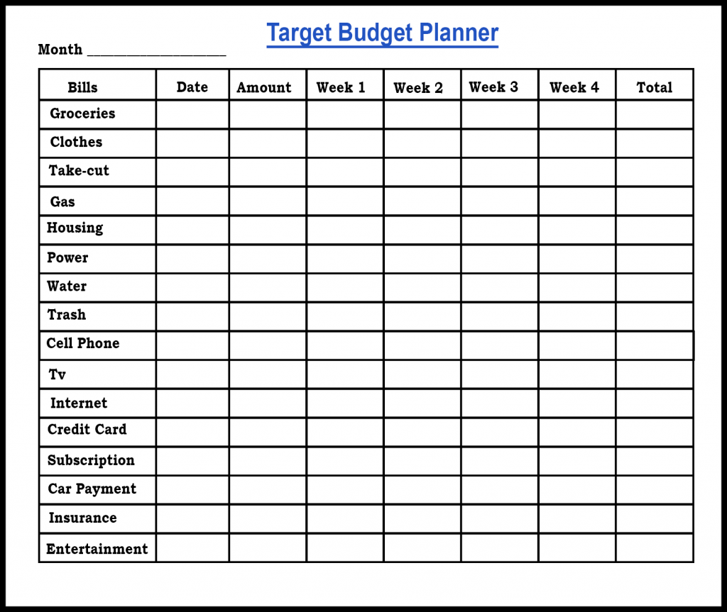Free Sample Printable Budget Planner Template   PDF ,Word & EXCEL