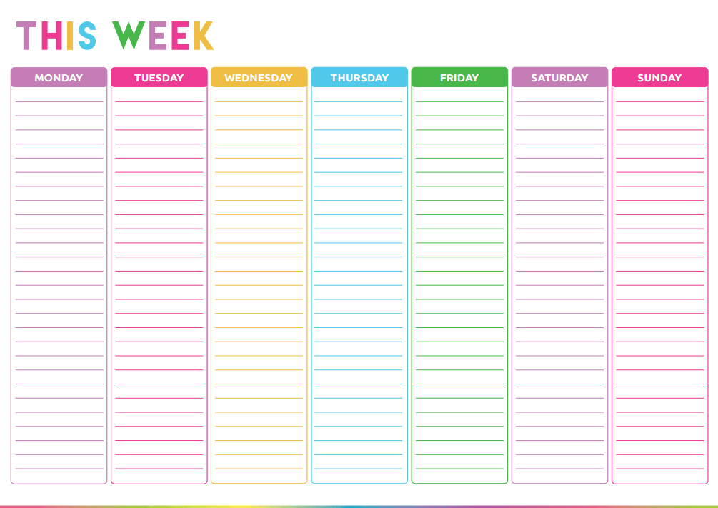 Weekly Planner For Preschool