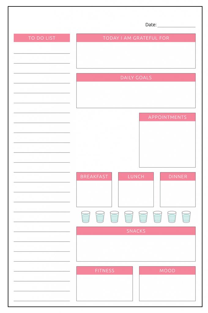 Custom Daily Planner Online