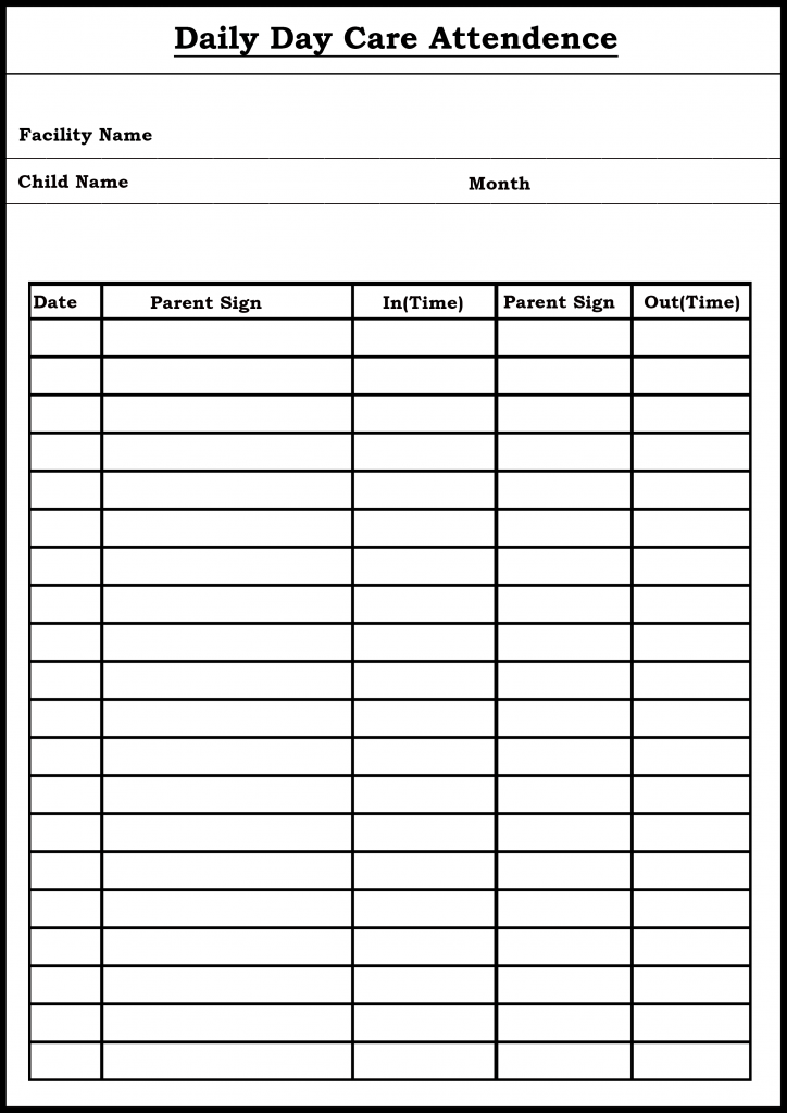 Printable Attendance Sheet Tracker Template In Pdf Word Google Docs