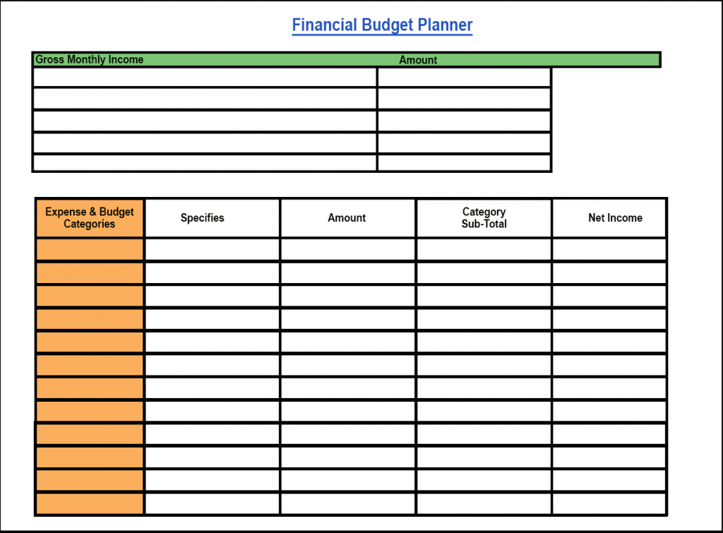 Financial Budget Planner