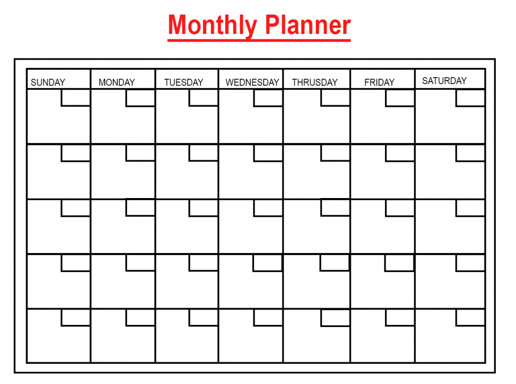 Daily Monthly Planner Template