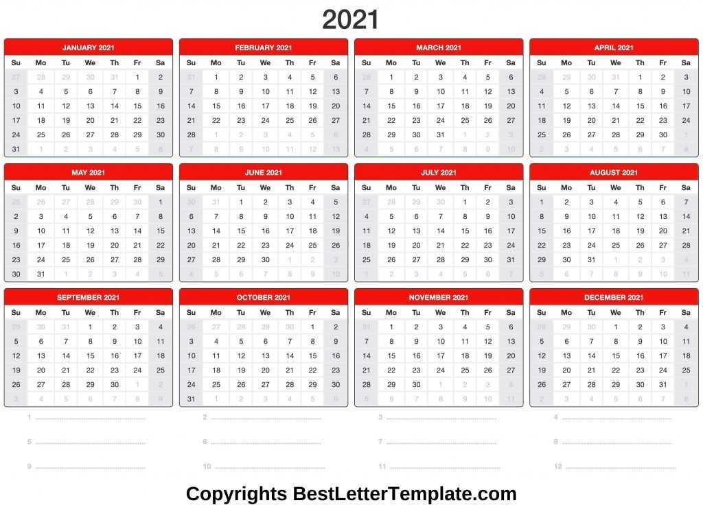 Free Downloadable 2021 Word Calendar / Just download word ...