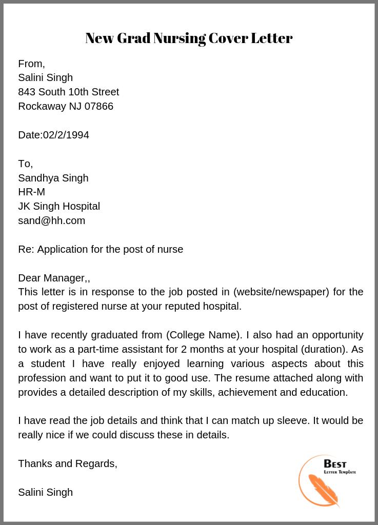 Nursing Cover Letter Job - Www