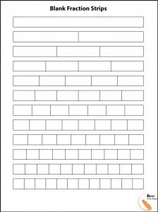 Blank fraction bars
