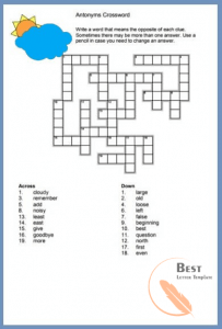 Easy crossword puzzles Printable with answers