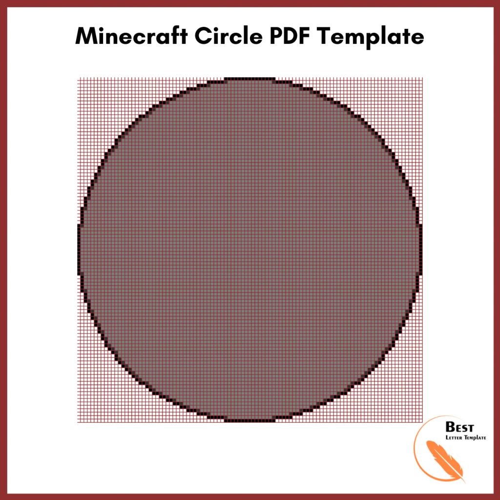 Minecraft Circle PDF Template