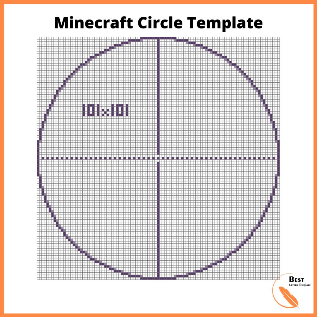 Printable Minecraft Circle Template (Chart Diagram)