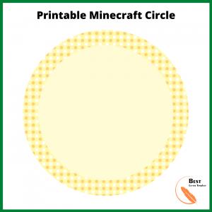 Printable Minecraft Circle