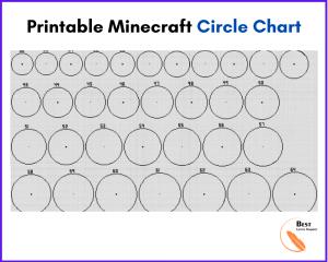 Printable Minecraft Circle Chart