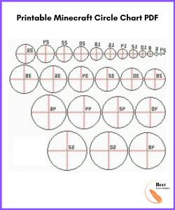 Printable Minecraft Circle Chart PDF