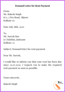 Demand Letter for Rent Payment
