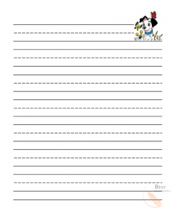 Lined paper for kids