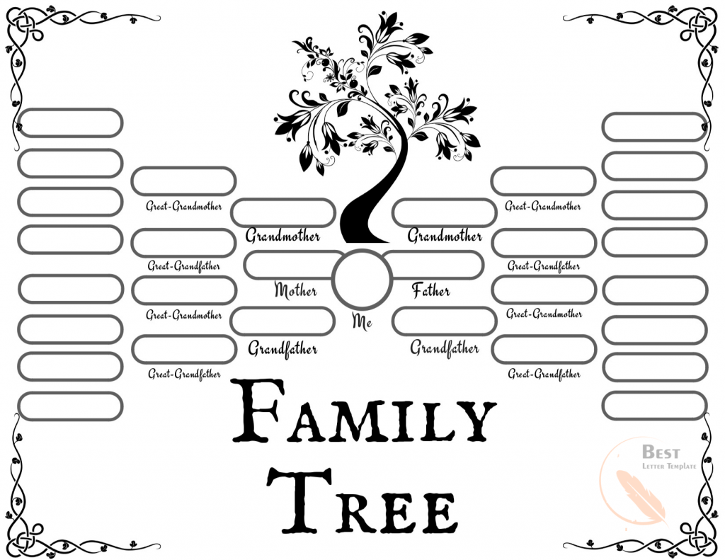 Free Editable Family Tree Template Word from bestlettertemplate.com