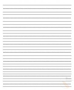 Printable Kindergarten Lined Paper