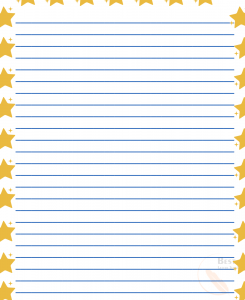 Printable Star Lined Paper