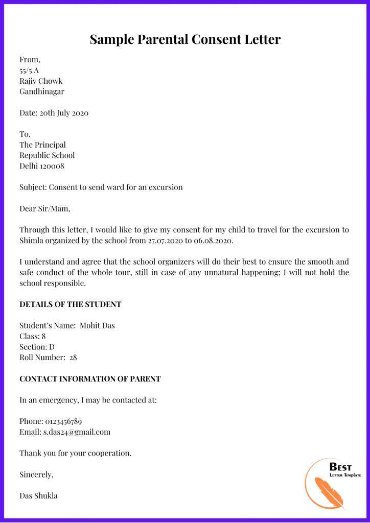 Sample Parental Consent Letter